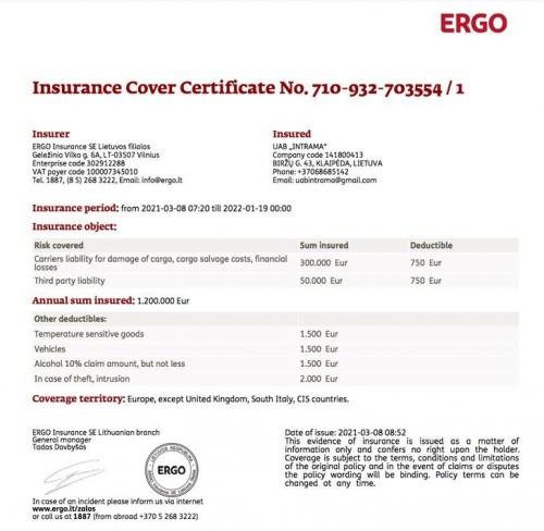 Indication for Reinsurance